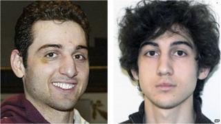 This combination of file photos shows brothers Tamerlan, left, and Dzhokhar Tsarnaev, suspects in the Boston Marathon bombings 15 April 2013