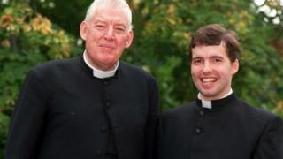 Kyle Paisley pictured with his father, Ian, in 1999