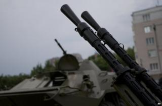 Gun barrels in Donetsk, Ukraine, 29 May