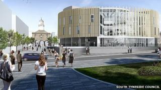 Plan for South Shields Market Place