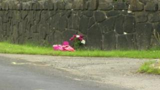 The scene of the crash in Bellaghy