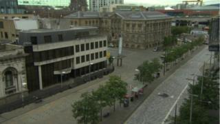 Aerial view of Custom House in Belfast