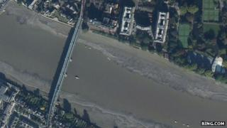 Aerial view of Putney Bridge