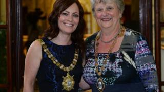 The SDLP's Nichola Mallon has been elected as lord mayor and Maire Hendron of the Alliance Party is the deputy lord mayor