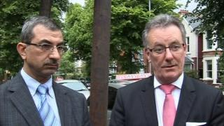 Dr Raied Al-Wazzan from the Belfast Islamic Centre and UUP leader Mike Nesbitt