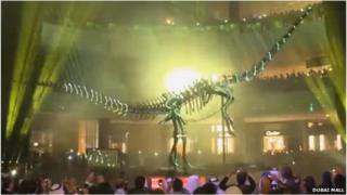 Dinosaur unveiled at The Dubai Mall
