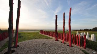 One of the works on the Yorkshire Wolds Way