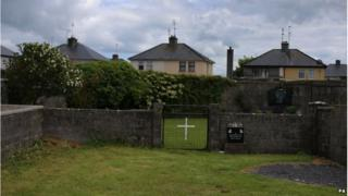 The site of a mass grave for children who died in the Tuam mother and baby home, Galway
