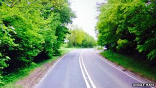 The A267 near Argos Hill