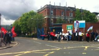 Protest at Royal Victoria Hospital