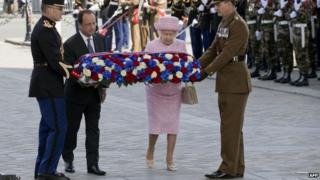 The Queen with President Francois Hollande
