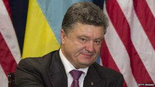 Ukrainian President-elect Petro Poroshenko in Poland on 4 June, 2014.