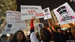 Rally against sexual harassment in Cairo. 12 Feb 2013