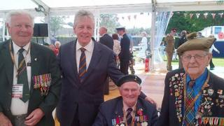 Peter Robinson in Normandy