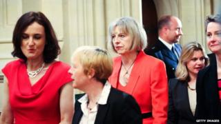 Theresa May at the state opening of parliament on 4 June 2014