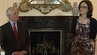 Eamon Gilmore and Theresa Villiers