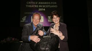 Blythe Duff was presented with her award by Scottish actor Bill Paterson