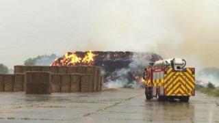 Haystack fire in Waterbeach