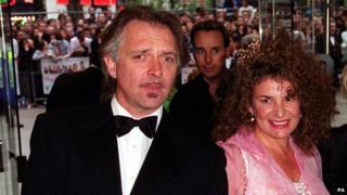 Rik Mayall and his wife Barbara Robbin