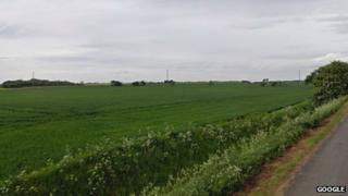 Fields close to Gedney Hill Golf Club