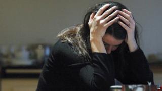generic depressed woman