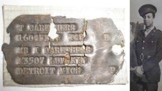 Thurmond Carethers (right) and his dog tag