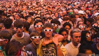 People watching Kraftwerk at Latitude Festival 2013