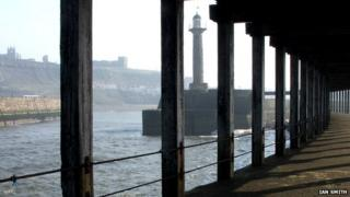 Underneath Whitby pier