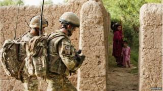 Soldiers in Helmand