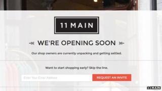 Screen shot of 11main.com