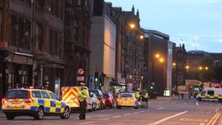 Police near Newcastle University