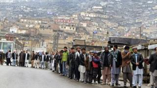 Afghan voters are preparing to queue again after turning out in large numbers during the first round