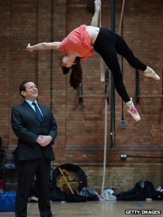 Ed Vaizey at the National Centre for Circus Arts in east London