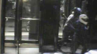 CCTV of the raid
