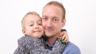 Nick Palmer and his son George