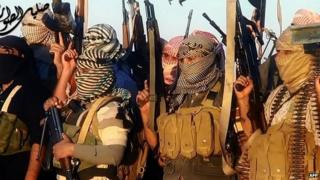 ISIS fighters near the Iraqi town of Tikrit. 8 June 2014