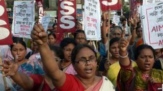 Anti-rape protest in Kolkata on June 7, 2014