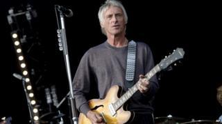 Paul Weller performing in 2013