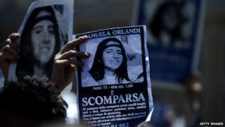 Missing person poster of Emanuela Orlandi
