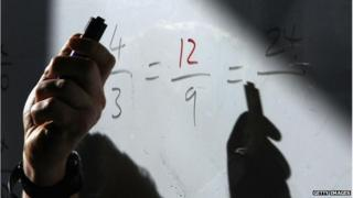 maths on a board
