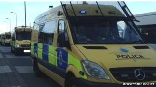 Merseyside Police vans