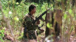 A Farc fighter. File photo