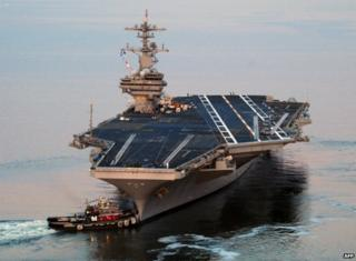 USS George HW Bush departs for its maiden deployment - 11 May 2011