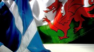 Flags of Scotland and Wales