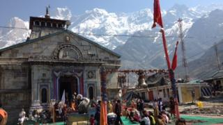 Kedarnath shrine on Sunday 15 June 2014