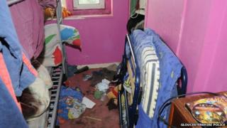 Filthy bedroom