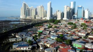 View of Punta Pacifica neighborhood, in Panama City