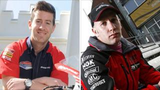 "Riders and fans paid their respects to Simon Andrews and Karl ""Bomber"" Harris at Snetterton on Sunday"