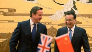Chinese premier Li Keqiang and David Cameron during the latter's visit to China in December