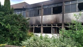Fire at St Neots factory